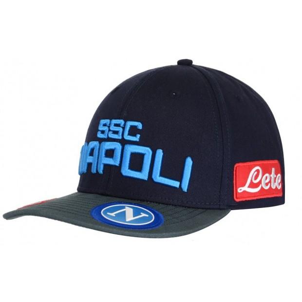 SSC Napoli Cappello con Visiera Piatta Blu Scuro