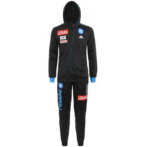 SSC Napoli Tuta Rappresentanza Triacetato con Cappuccio Dark Blue 2018/2019 Kid