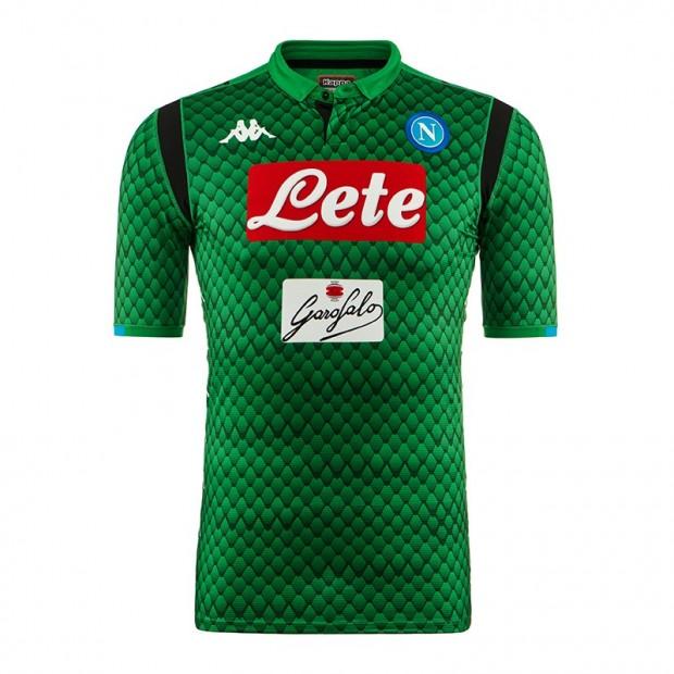 SSC Napoli Goalkeeper Green Match Shirt 2018/2019