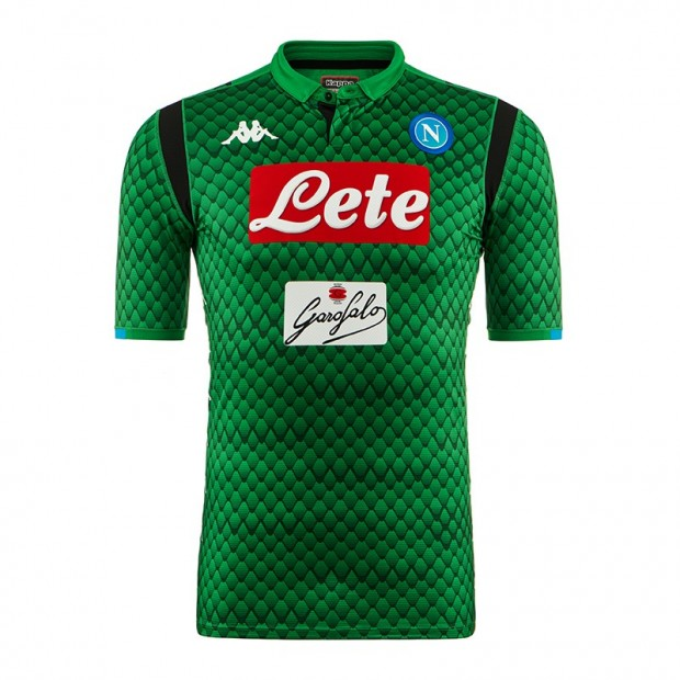 SSC Napoli Goalkeeper Green Match Shirt 2018/2019