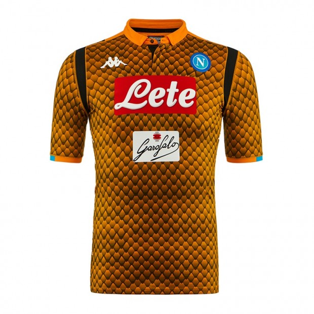 SSC Napoli Goalkeeper Orange Match Shirt 2018/2019