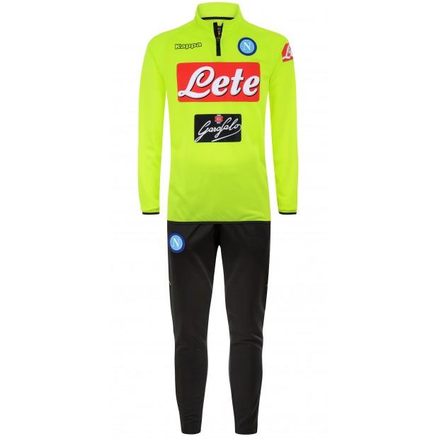 SSC Napoli Yellow Fluo Training Tracksuit 2018/2019 Kid