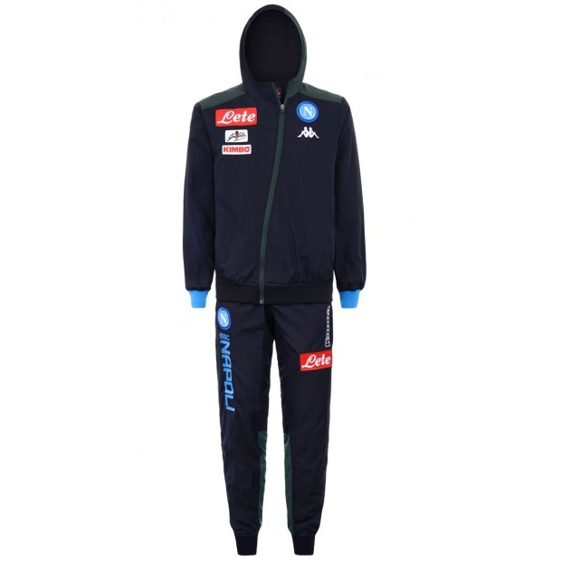 SSC Napoli Micro Dark Blue Representation Tracksuit with Hood 2018/2019 Youth