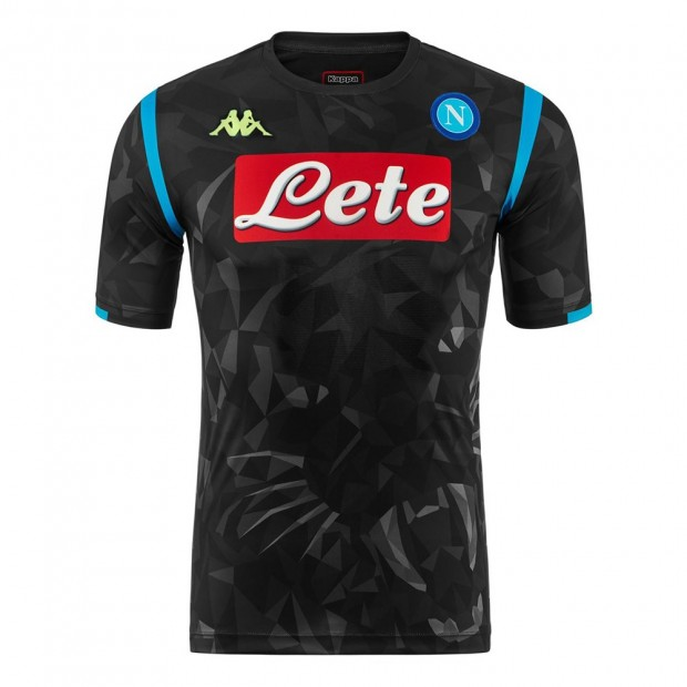 SSC Napoli Europa Replica Black Shirt 2018/2019