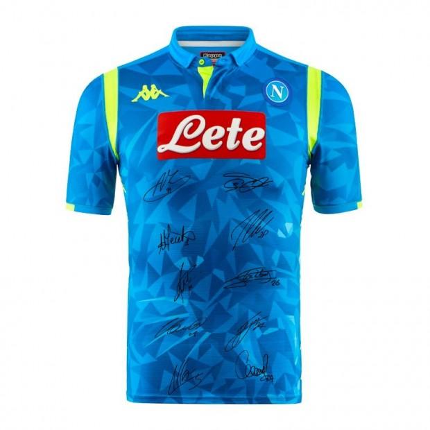 SSC Napoli Autographed Europa Home Match Shirt 2018/2019