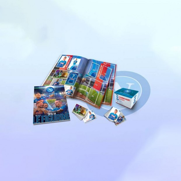 Scatola di 50 bustine di Figurine Album SSC Napoli 2018/2019
