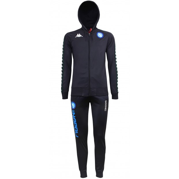 SSC Napoli Dark Blue Europa Representation Tracksuit with Hood 2018/2019 Kid