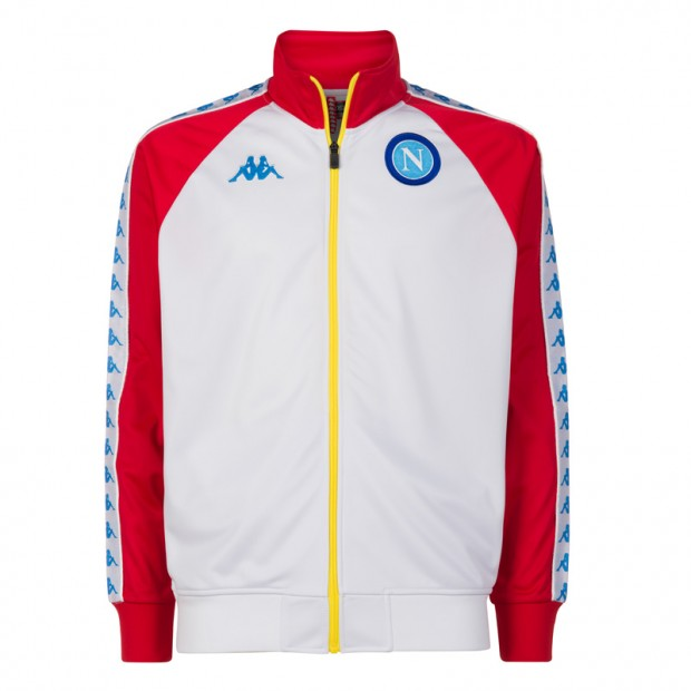 SSC Napoli White/Red Retro Soccer Fleece