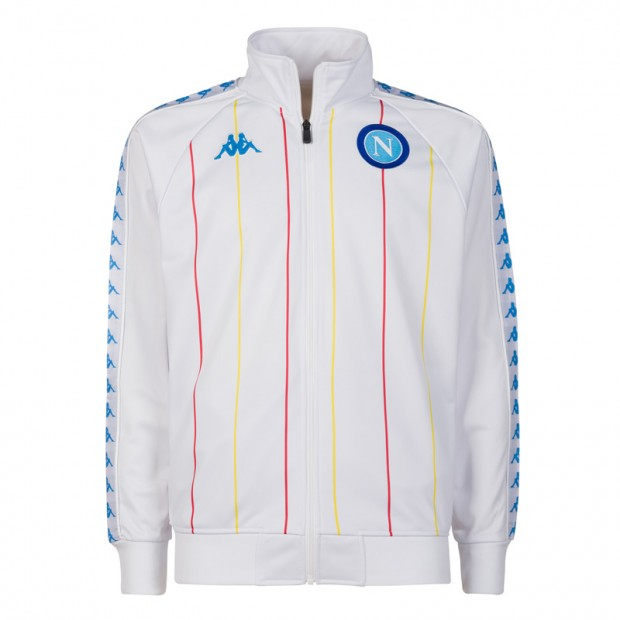 SSC Napoli White Retro Soccer Fleece