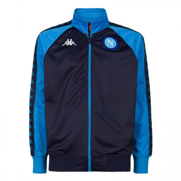 SSC Napoli Felpa Retro Soccer Blu Scuro