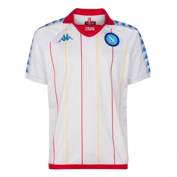 535fa5b6ffbb5 SSC Napoli White Retro Soccer Shirt