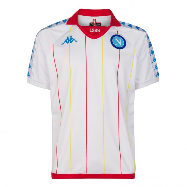 SSC Napoli White Retro Soccer Shirt