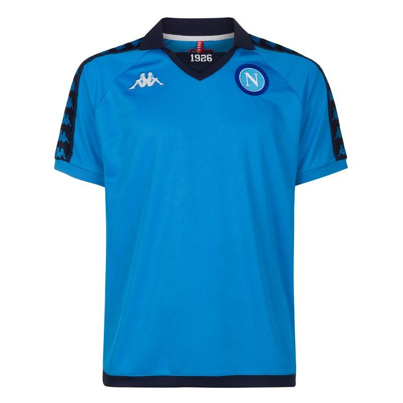 SSC Napoli Sky Blue Retro Soccer Shirt bef277734598a