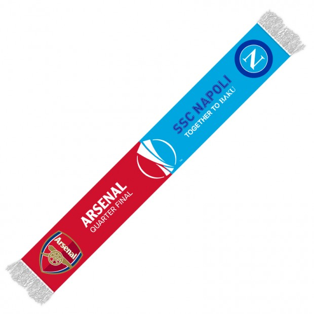 Sciarpa Europa League Napoli-Arsenal