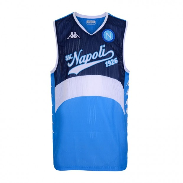 SSC Napoli Dark Blue/Sky Blue Sleeveless Shirt