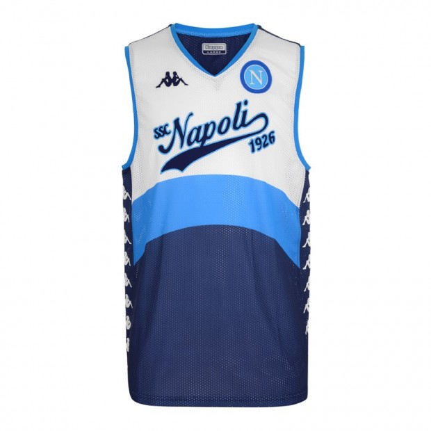 SSC Napoli White/Dark Blue Sleeveless Shirt
