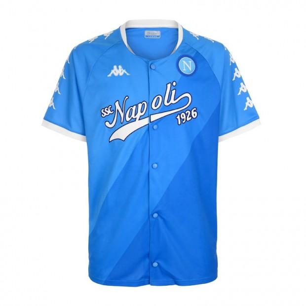 SSC Napoli T-Shirt Baseball Style Azzurra
