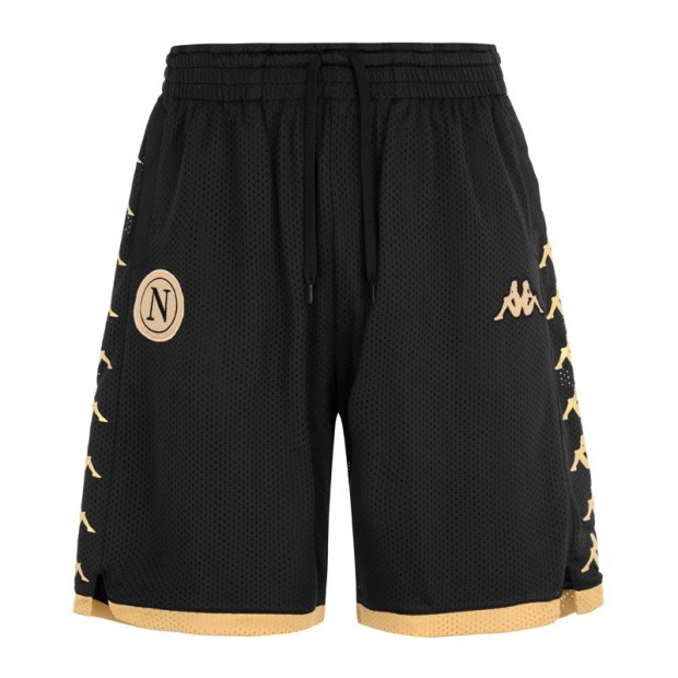 SSC Napoli Gold/Black Shorts