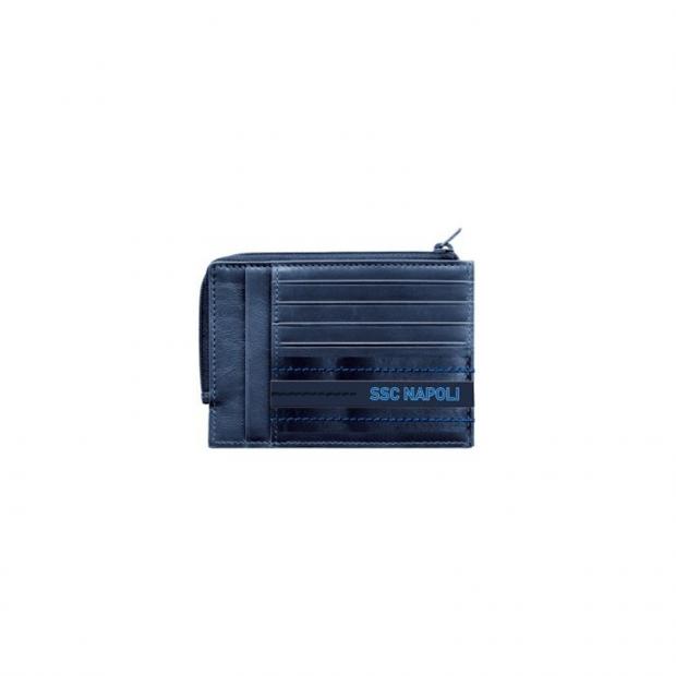 SSC Napoli Portacarte Blu Scuro