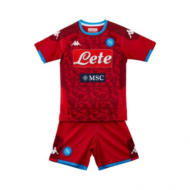 SSC Napoli Set Gara GK Rosso JR 2019/2020