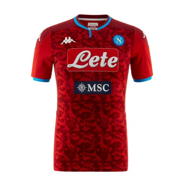 SSC Napoli GK Red Match Shirt 2019/2020