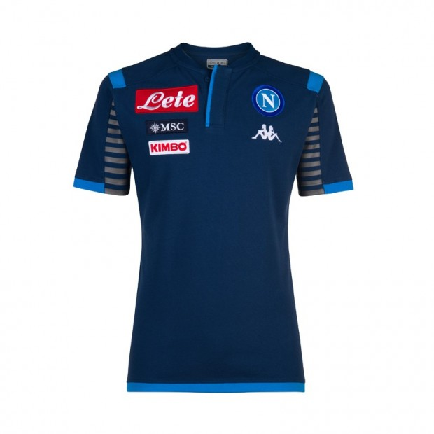 SSC Napoli Deep Blue Representation Polo Shirt 2019/2020