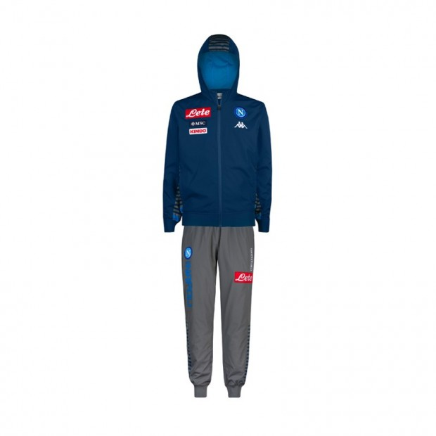 SSC Napoli Blue Cotton Representation Tracksuit with Hood 2019/2020