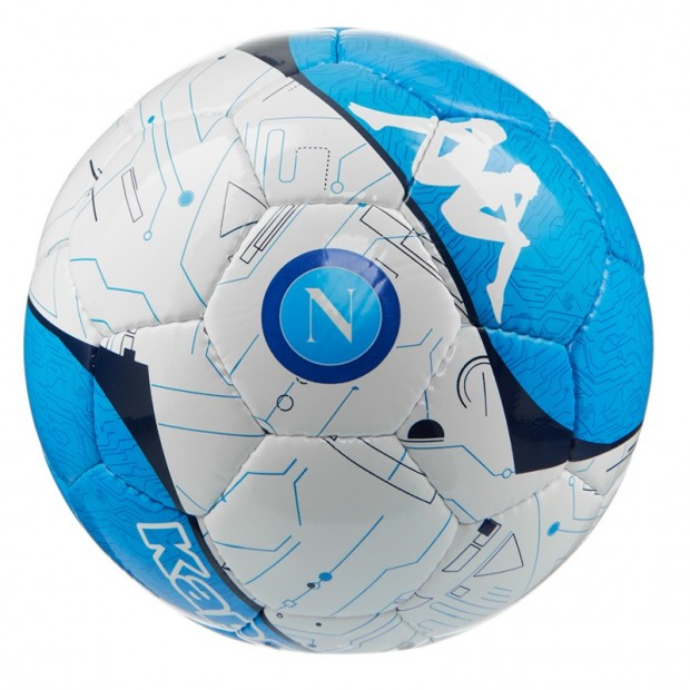 SSC Napoli Pallone size 5 Bianco/Azzurro