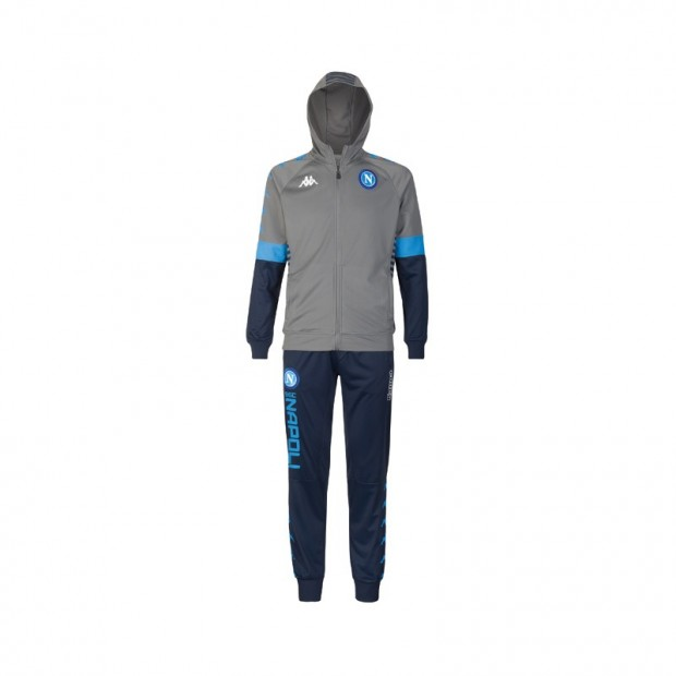 SSC Napoli Europa Grey Representation Tracksuit with Cap 2019/2020 Kid