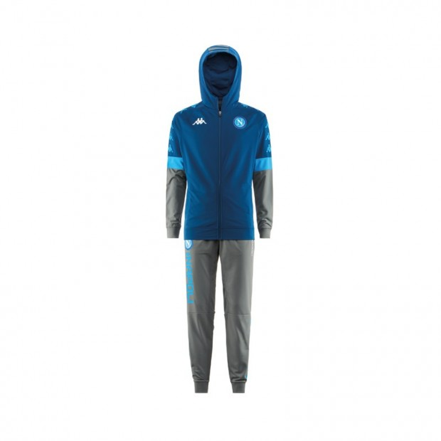 SSC Napoli Europa Blue Representation Tracksuit with Cap 2019/2020 Kid