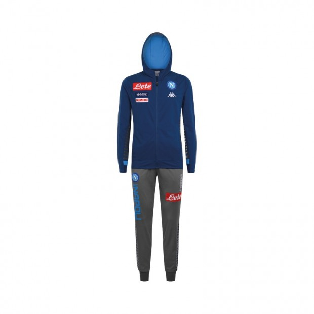 SSC Napoli Blue Representation Tracksuit with Hood 2019/2020 Kid