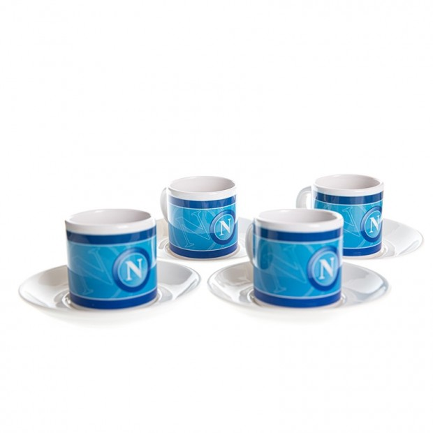 SSC Napoli Set of 4 Coffee Small Cups