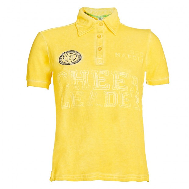 SSC Napoli Yellow Lady  Cheerleader Polo Shirt