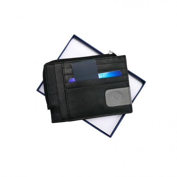SSC Napoli Black Flat Card Holder