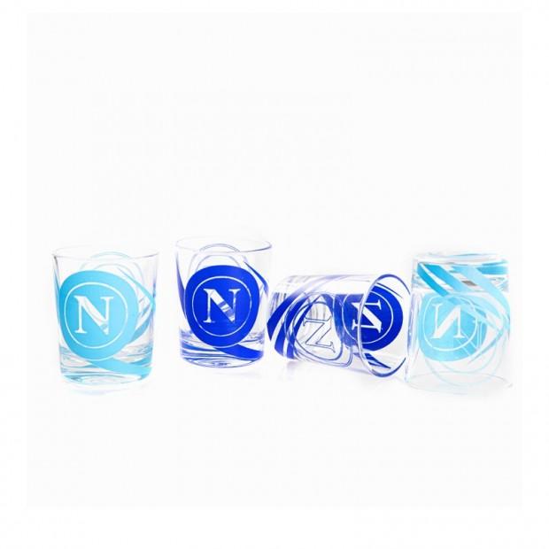 SSC Napoli Set of 4 Shot Glasses