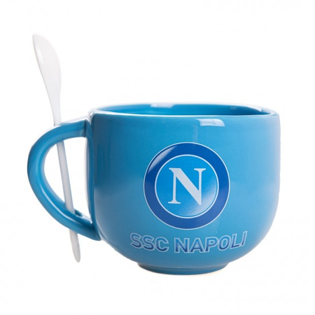 SSC Napoli Tazza Latte in Ceramica