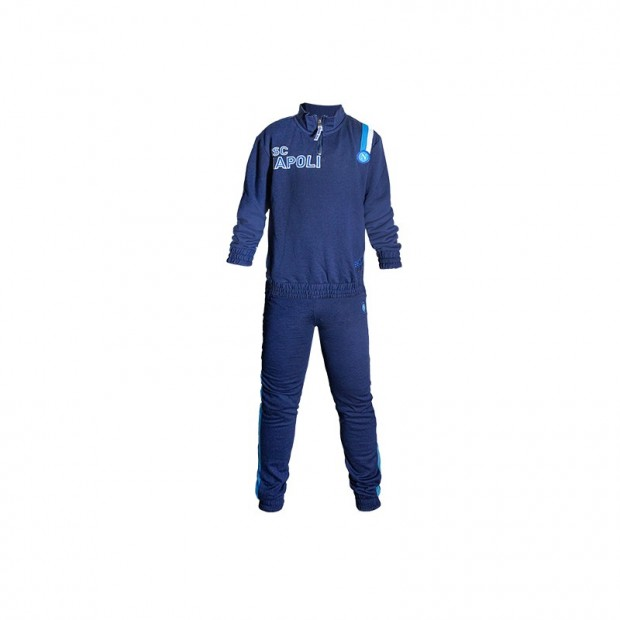SSC Napoli Half Zip Blue Pyjamas for Kids