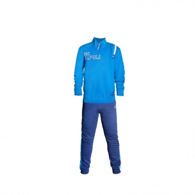 Pigiama Half Zip SSC Napoli Azzurro JR