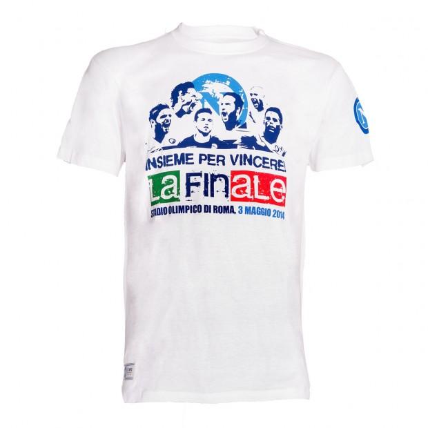 T-Shirt SSC Napoli Insieme per Vincere Bianca