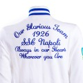 SSC Napoli Zipped White College Sweatshirt