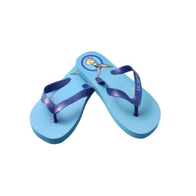 SSC Napoli Sky Blue Mascotte Flip.Flops for kids type 2 f8eb5d9c17a98
