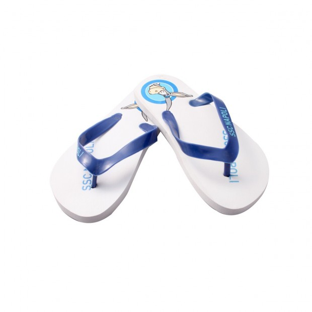 SSC Napoli White Mascotte Flip.Flops for kids type 2