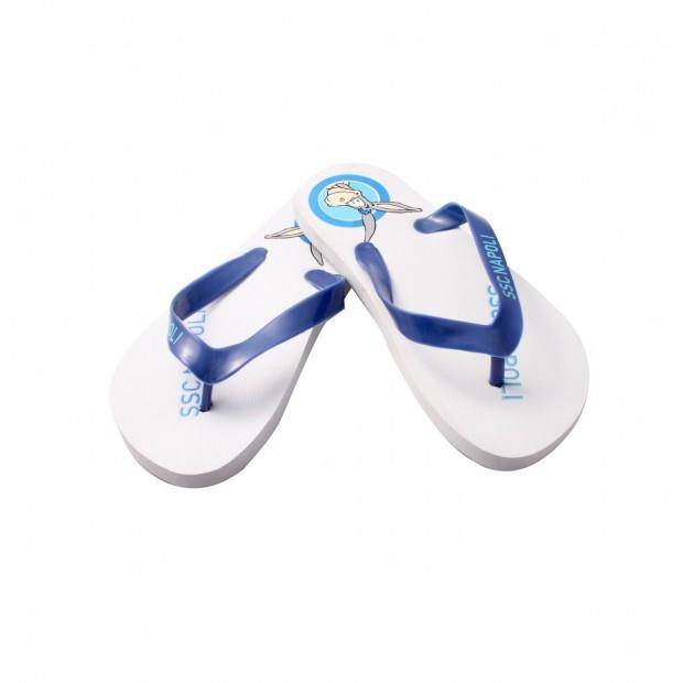 SSC Napoli White Mascotte Flip.Flops for kids type 2