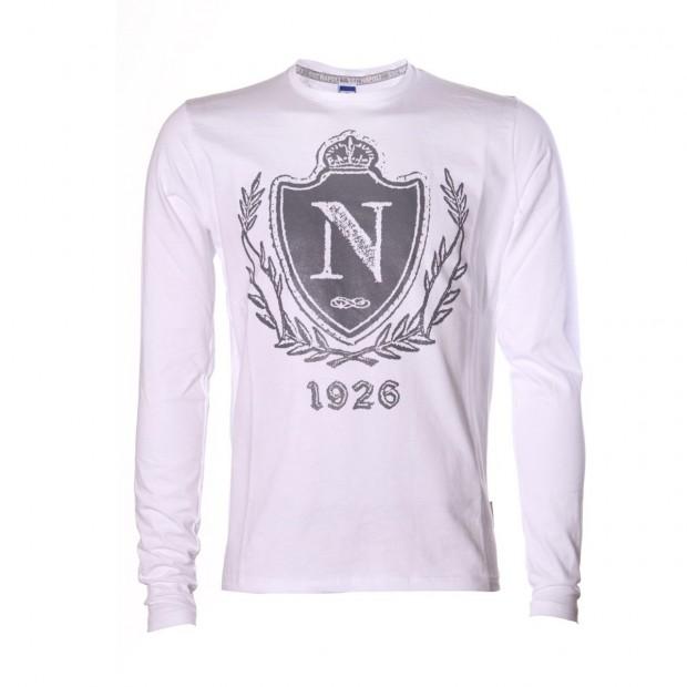 SSC Napoli L/S White T-Shirt Crest